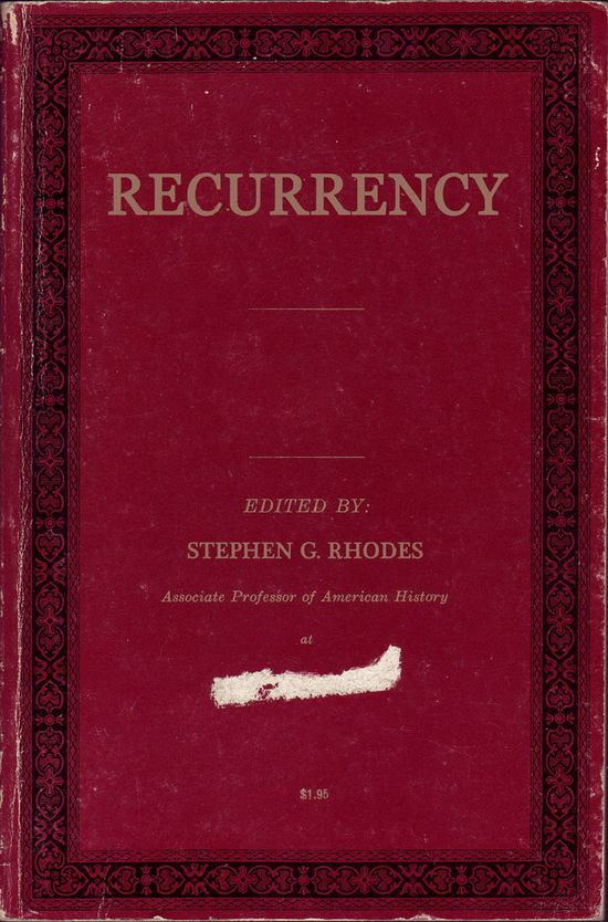 Stephen G. Rhodes - Recurrency (Book Cover)