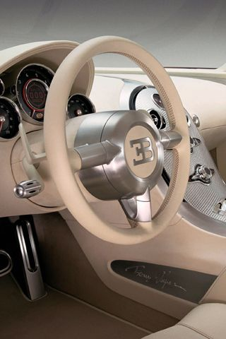 ? Luxury car Bugatti Veyron beige Interior #ecogentleman #automotive #transportation #wheels