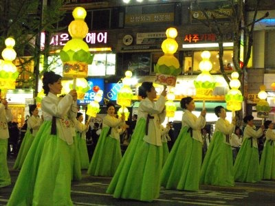 Lotus lantern festival in Korea