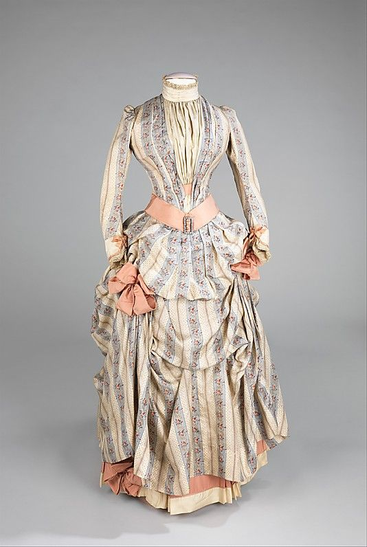 Dress  Date: ca. 1885 Culture: American Brooklyn Museum Costume Collection at The Metropolitan Museum of Art, Gift of the Brooklyn Museum, 2009; Gift of Miss C. W. Howe, 1933