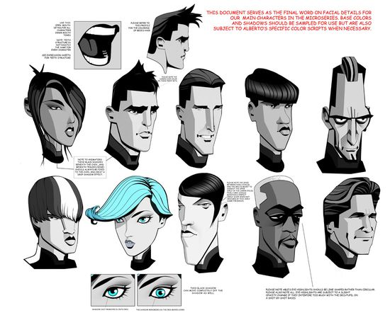 "Model sheet for characters for ""Tron Uprising"" ?"