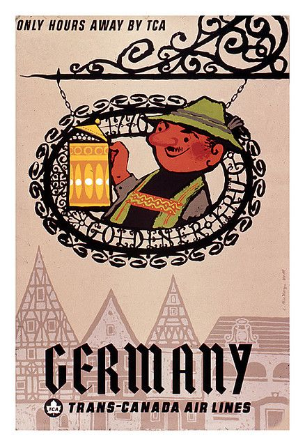 Germany #vintage #travel #poster
