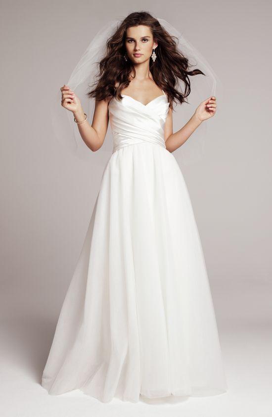 NOUVELLE Amsale satin a-line halter gown, exclusive to Nordstrom #Nordstromwedding