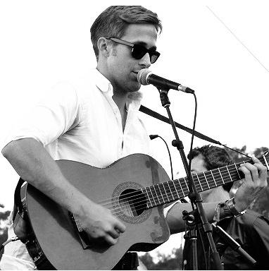 Ryan Gosling on the guitar