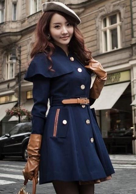 $32.99 Fashion Cloak Belt Wool Coat
