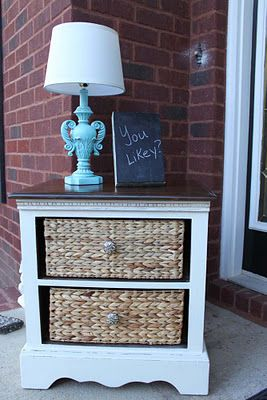 Made from taking out drawers of an old nightstand .... Southern Revivals. She has a great blog for easy DIY/ cheap projects and home decorating!