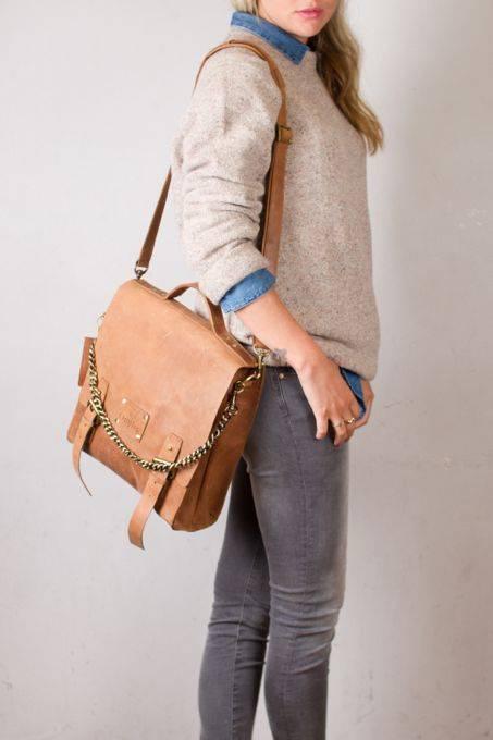 Eco Camel Leather Bag