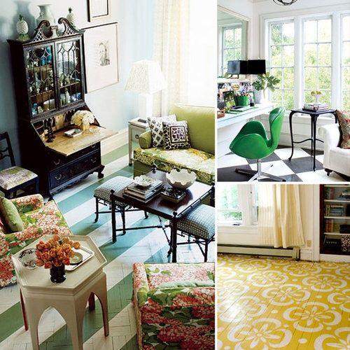Painted wood floor #floor designs #modern floor design #floor decorating before and after #floor design ideas