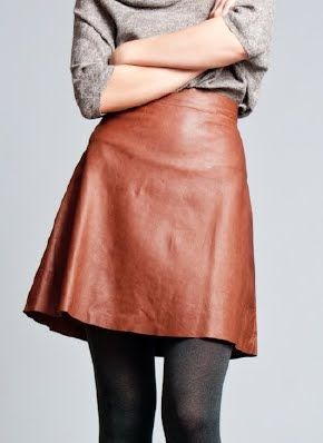 perfect leather skirt