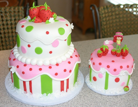 Strawberry Shortcake Birthday Cakes