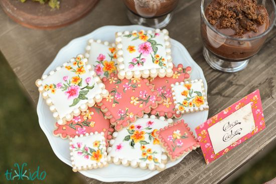 Gorgeous cookies at a Mud Pie Bakery Party #mudpie #bakery