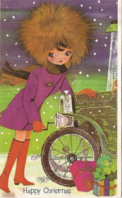 Vintage Childrens Christmas card
