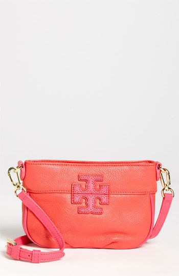 Tory Burch 'Stacked T' Leather Crossbody Bag
