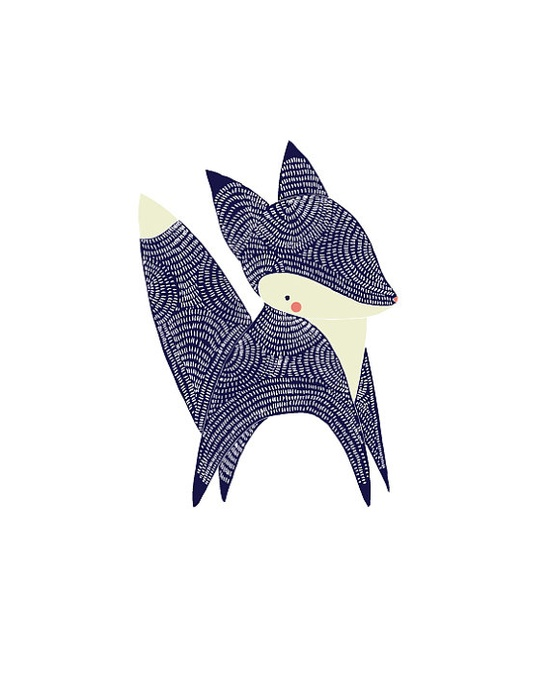 January Little Fox Illustration