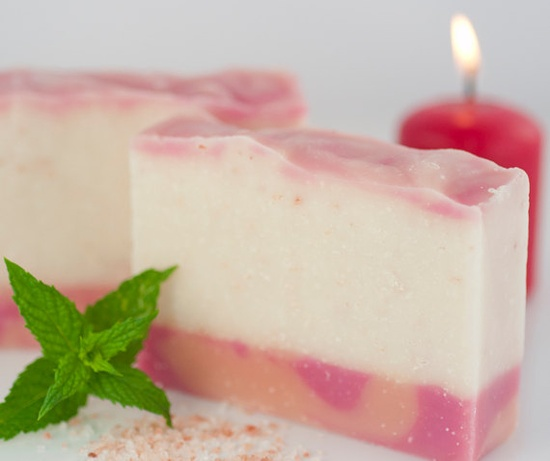 Angel of the Morning Vegan Soap  Himalayan Pink by BlossomTwig, $6.00  A refreshing, wake-me-up soap with sweet peppermint and a smattering of mineral-rich Himalayan pink salt to gently exfoliate.