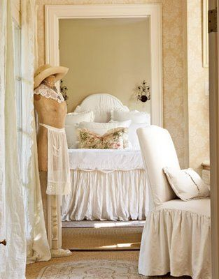 soft and romantic french bedroom