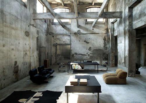 Industrial Design. Love high ceilings.