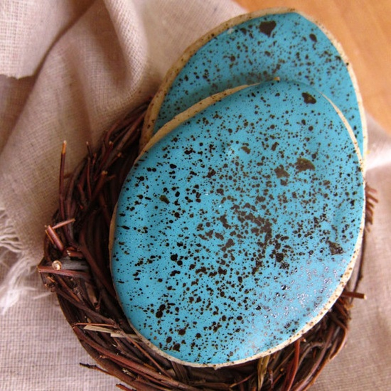Easter Robins Egg Cookies