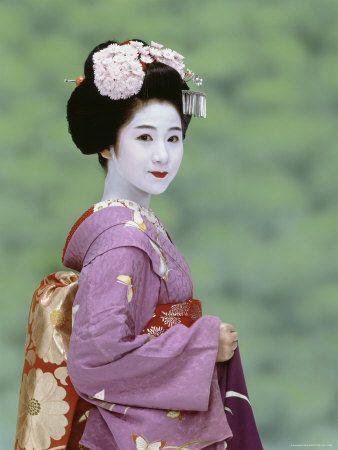 Geisha with kanzashi