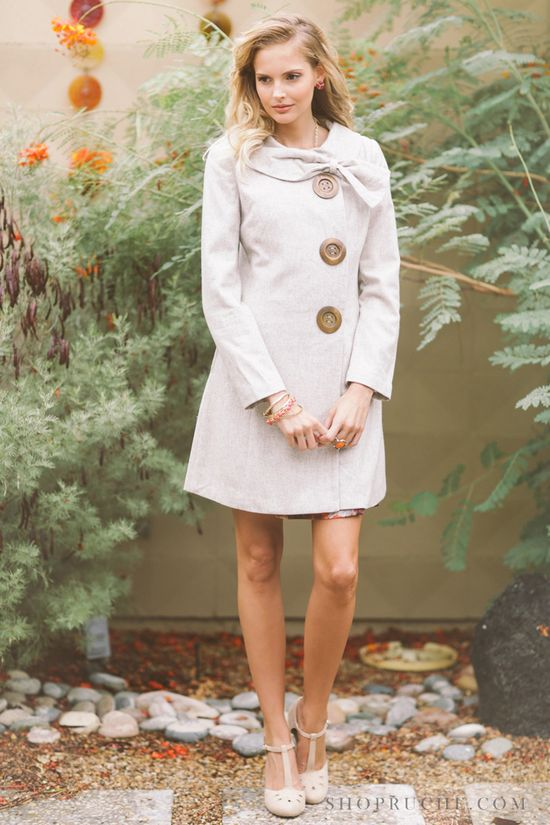 Turn on your sweetest socialite charm in this darling statement coat. #ruche #shopruche