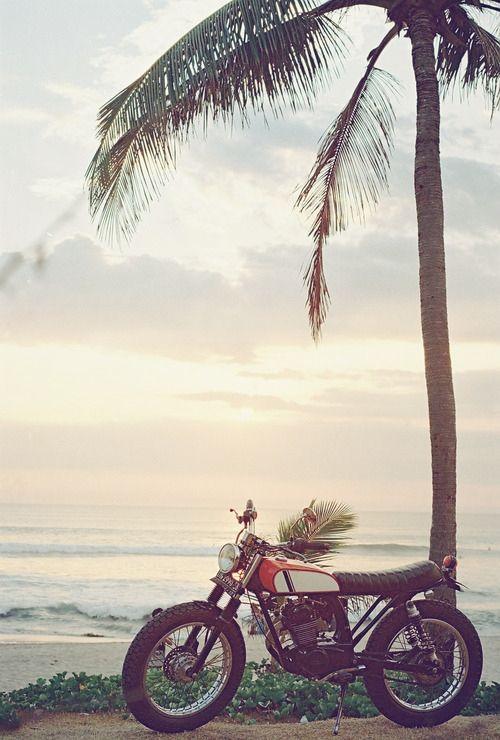 A motorbike and coastal air. Beautiful.