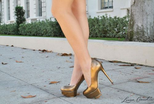 metallic heels for fall and the holidays #need