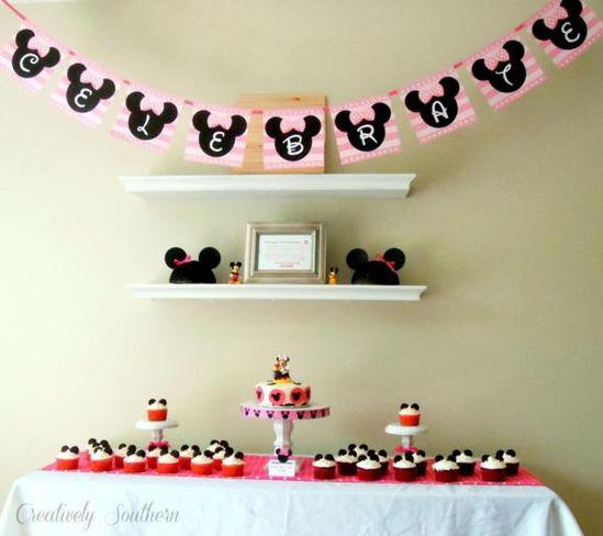 Minnie Mouse Birthday Party via Kara's Party Ideas