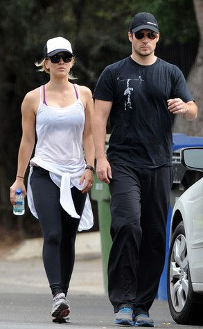 New couple Henry Cavill & Kaley Cuoco take a romantic hike together. Get the details: www.eonline.com/...