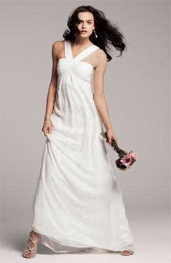 Nicole Miller V-Strap Gown via @Nordstrom #wedding