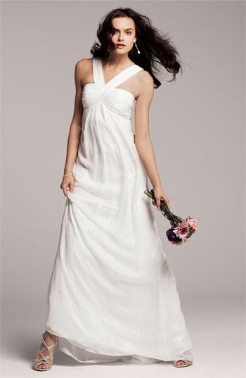 Nicole Miller V-Strap Gown via @Nordstrom #wedding