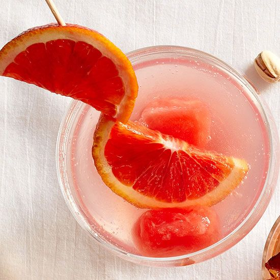 Simple ways to jazz up your cocktails - like freezing fruit juice or even condiments like hot sauce for Bloody Marys!