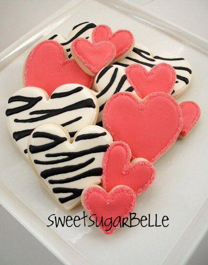? Zebra Valentine Cookies