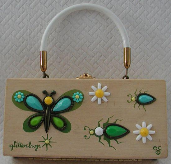 ENID COLLINS Vintage Handbag  Glitterbugs