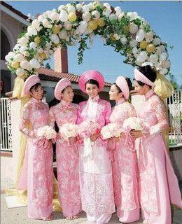 Vietnamese Wedding Dress by boncyboutique.com, via Flickr