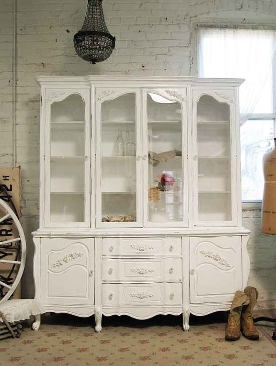 Painted Cottage Chic Shabby White Romantic by paintedcottages, $695.00