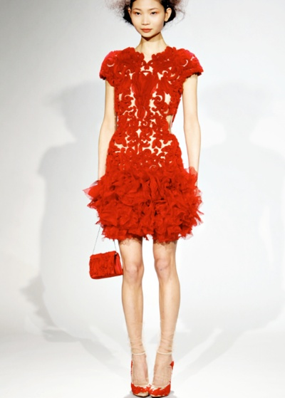 Red Lace Dress.  I love everything about this.