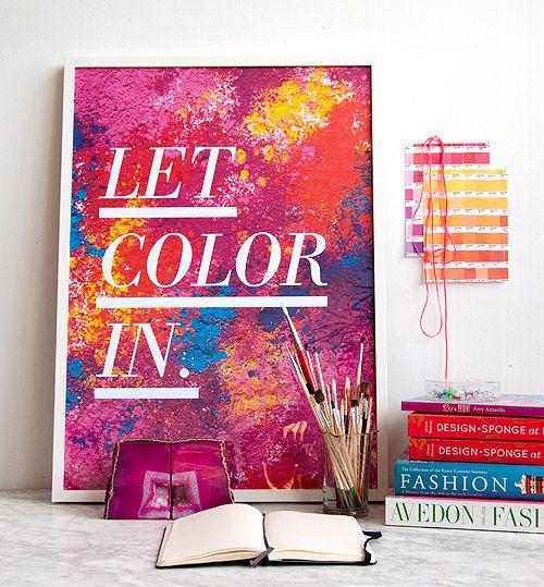 DIY Holi-inspired artwork for your walls! #livewithcolor #holi #diy #artwork #photography