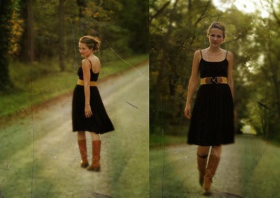 belt, dress, boots