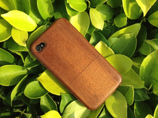 Mahogany - Wood iPhone Case - iPhone 4 wood case - iphone 4s case - cases for iphone 4 - wooden iphone 4 case - iphone cover