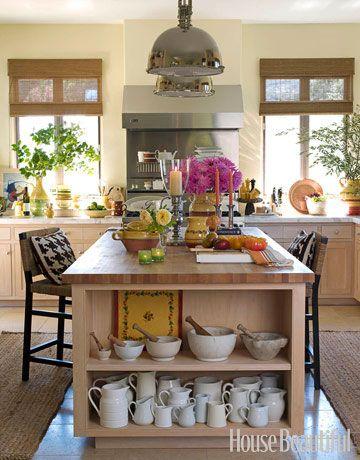 industrial + cozy kitchen.