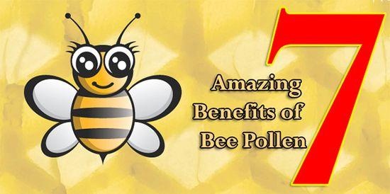 7 amazing benefits of bee pollen #health #food #nutrition