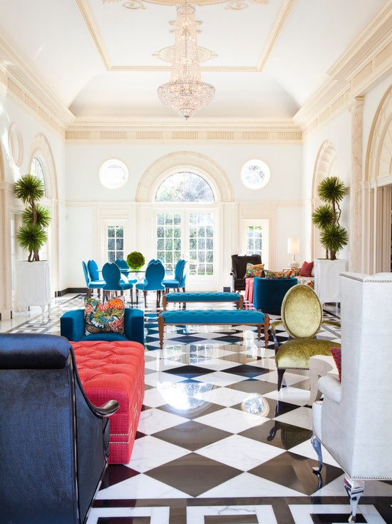 punch of blue for the home via Houzz