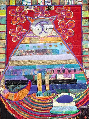 Feed Me cat quilt
