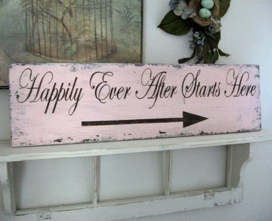 so cute- use it for the reception, and then hang it in the apartment afterwards