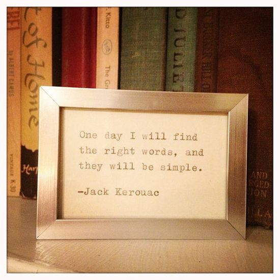 Jack Keouac Quote Typed on Typewriter and Framed by farmnflea, $12.00