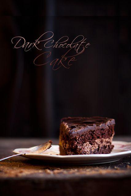 Eggless Dark Chocolate Cake
