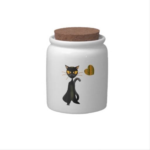 Cartoon Cat Candy Jar