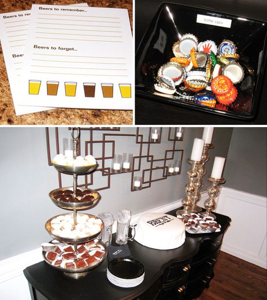 beer tasting birthday party - perfect theme for the hubby!