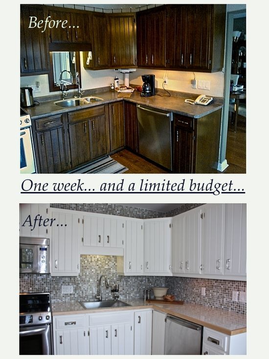 One week before and after kitchen reno... For my parents!! CynthiaWeber.com