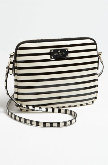 kate spade new york 'bryce - flicker' patent leather iPad crossbody bag